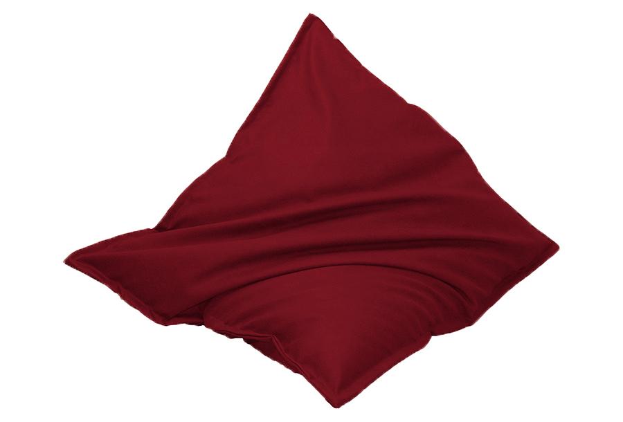 Drop & Sit zitzak met lederlook Maat 130 x 150 cm - Donkerrood