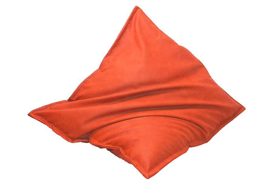 Drop & Sit zitzak met lederlook Maat 130 x 150 cm - Oranje