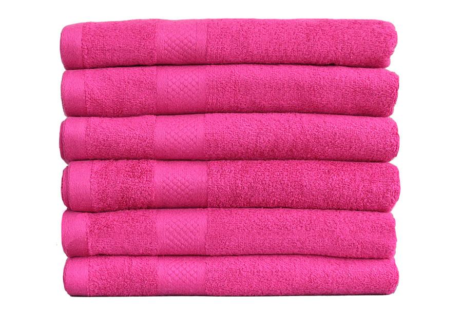 Set luxe handdoeken Roze - 50 x 100 cm - 3 stuks - Handdoek 500gr