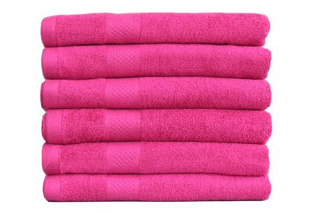 Luxe hotel handdoeken of badhanddoeken van 100% katoen | Diverse pakketten met oplopend set voordeel! roze