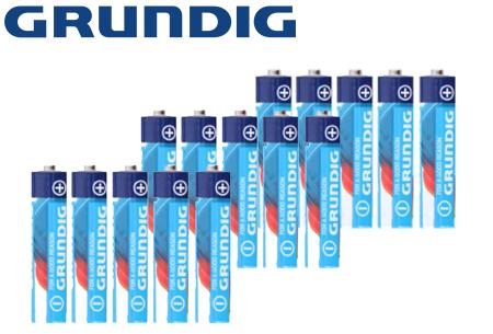 Grundig batterijen multipack | Super voordelige 45-pack - keuze uit AA en/of AAA