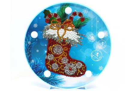 Diamond painting kerst decoratieschaal | Feestelijke schalen met ledverlichting!  #A