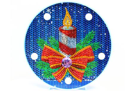 Diamond painting kerst decoratieschaal | Feestelijke schalen met ledverlichting!  #C