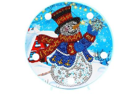 Diamond painting kerst decoratieschaal | Feestelijke schalen met ledverlichting!  #D