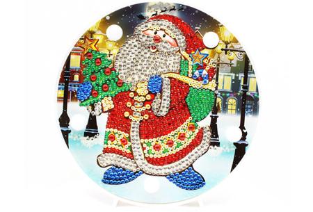 Diamond painting kerst decoratieschaal | Feestelijke schalen met ledverlichting!  #E
