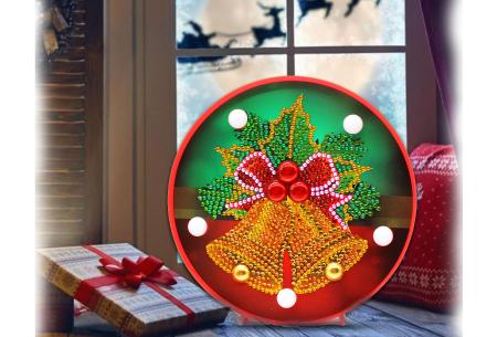 Diamond painting kerst decoratieschaal | Feestelijke schalen met ledverlichting!