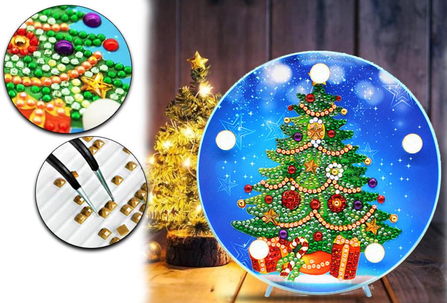 Diamond painting kerst decoratieschaal met korting