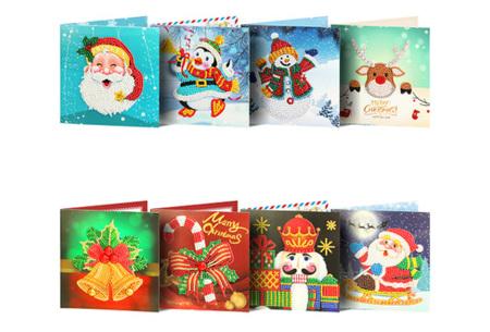 Diamond painting kerstkaarten | Maak je eigen originele kerstkaarten Pakket 4
