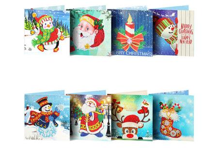 Diamond painting kerstkaarten | Maak je eigen originele kerstkaarten Pakket 5