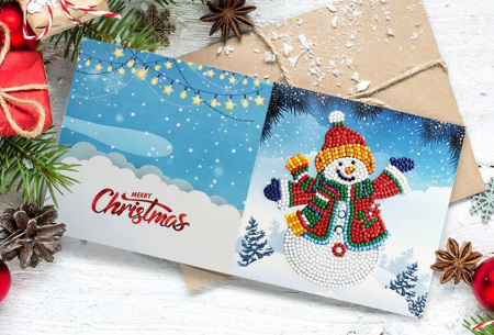 Diamond painting kerstkaarten | Maak je eigen originele kerstkaarten