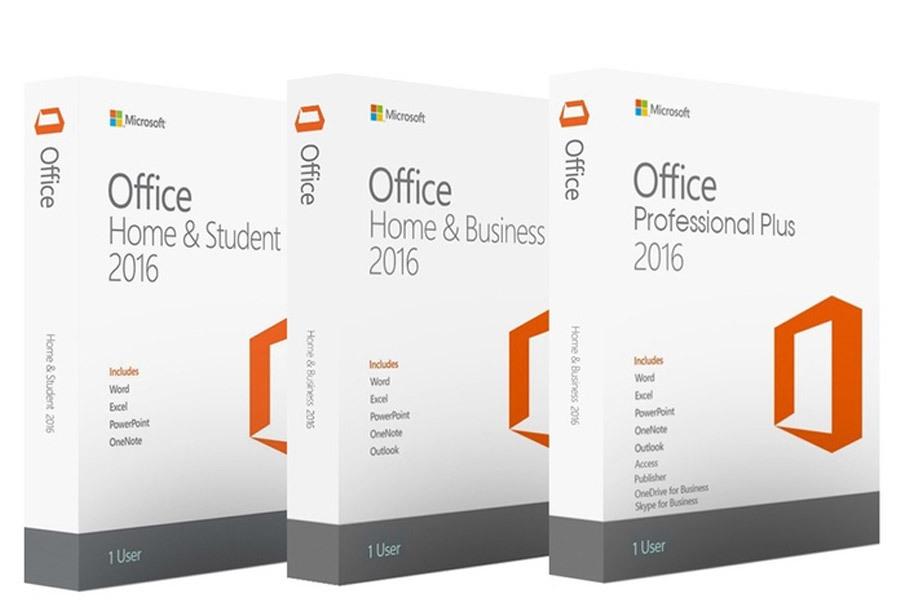 Microsoft Office 2016 pakketten Office 2016 Professional Plus