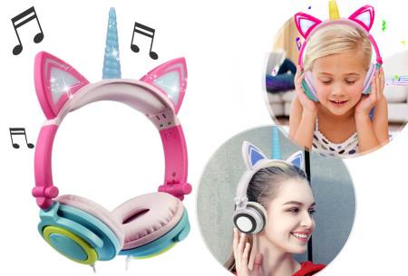 Unicorn koptelefoon | Luister naar jouw favoriete muziek op een super originele manier - voor jong en oud!