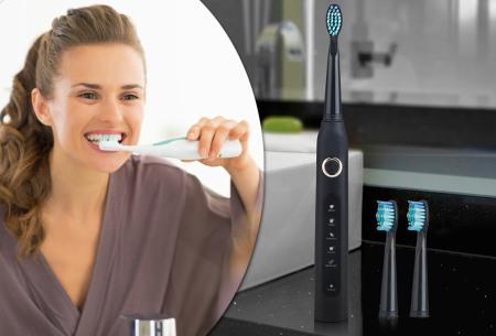 Elektrische tandenborstel | Voor een stralend schoon gebit + extra accessoires