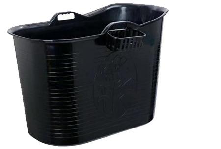 Bath Bucket mobiele badkuip | Plastic zitbad voor volwassenen zwart