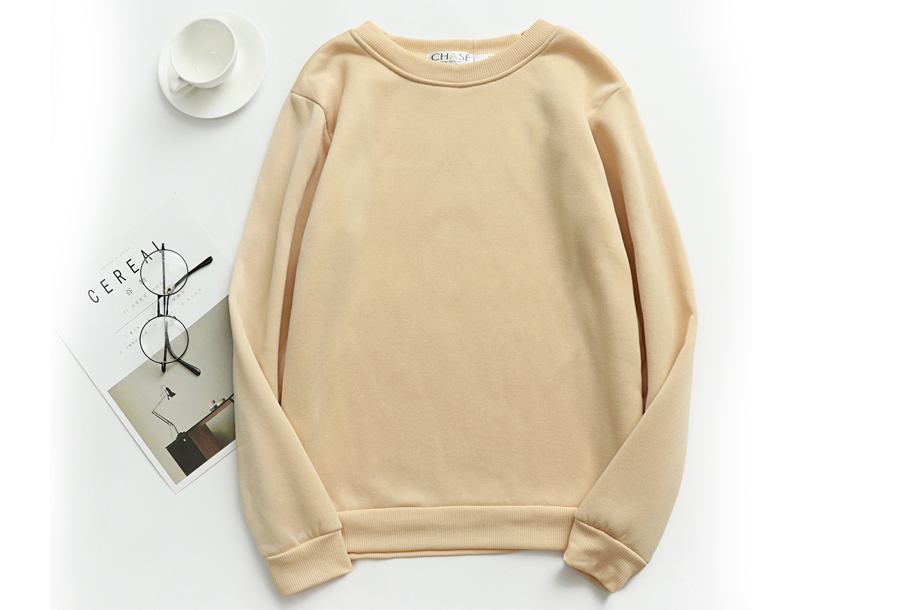 Basic dames sweater - Maat XS - Beige