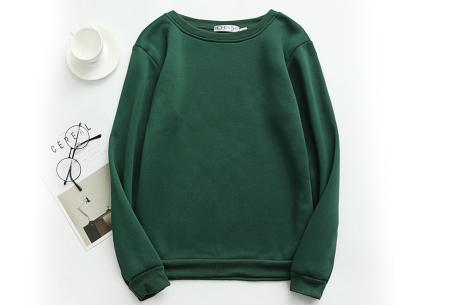 Basic dames sweater   Ideale basic trui met fleece - in 19 kleuren! Groen