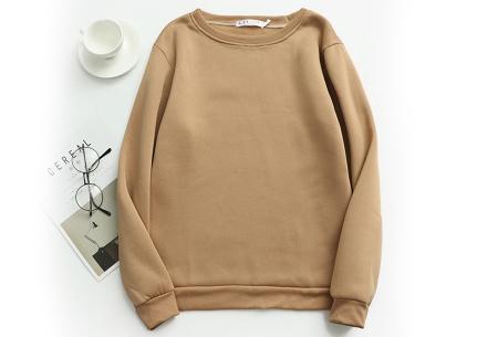 Basic dames sweater   Ideale basic trui met fleece - in 19 kleuren! Khaki