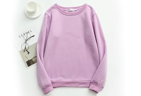 Basic dames sweater   Ideale basic trui met fleece - in 19 kleuren! Lila