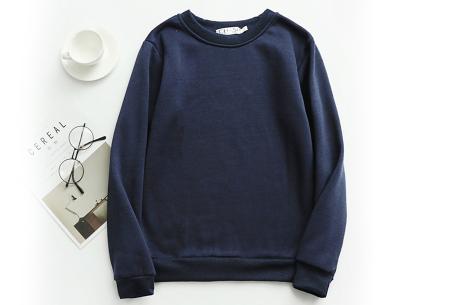 Basic dames sweater   Ideale basic trui met fleece - in 19 kleuren! Navy