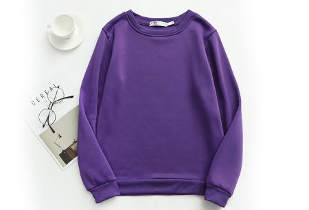 Basic dames sweater   Ideale basic trui met fleece - in 19 kleuren! Paars