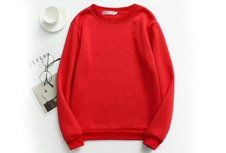 Basic dames sweater   Ideale basic trui met fleece - in 19 kleuren! Rood