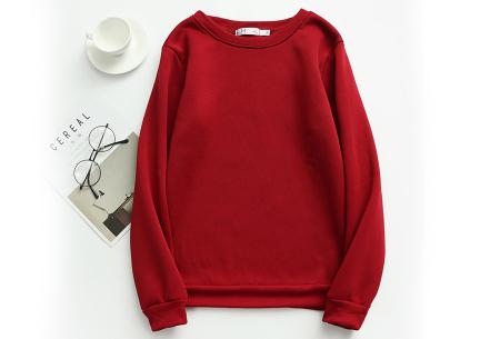 Basic dames sweater   Ideale basic trui met fleece - in 19 kleuren! Wijnrood