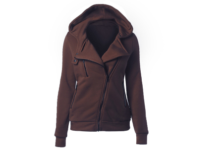 Basic Zipper vest | Sportief kledingstuk met fleece binnenzijde Bruin