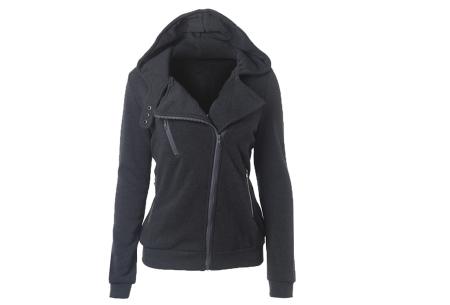 Basic Zipper vest | Sportief kledingstuk met fleece binnenzijde Donkergrijs