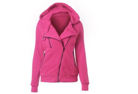 Basic Zipper vest | Sportief kledingstuk met fleece binnenzijde Fuchsia