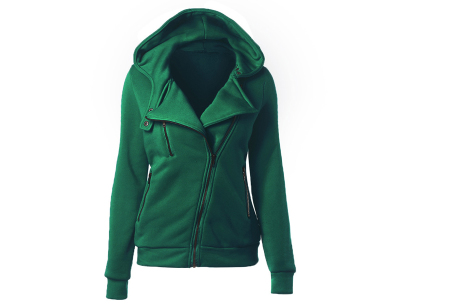 Basic Zipper vest | Sportief kledingstuk met fleece binnenzijde Groen