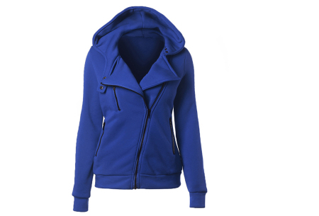 Basic Zipper vest | Sportief kledingstuk met fleece binnenzijde Kobaltblauw