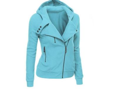 Basic Zipper vest | Sportief kledingstuk met fleece binnenzijde Lichtblauw
