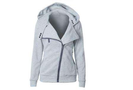 Basic Zipper vest | Sportief kledingstuk met fleece binnenzijde Lichtgrijs