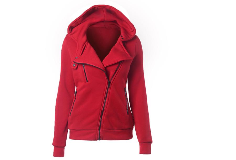 Basic Zipper vest - Rood - Maat XL
