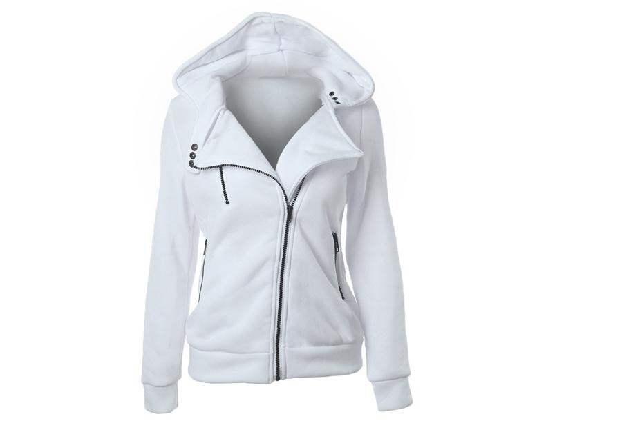Basic Zipper vest - Wit - Maat L