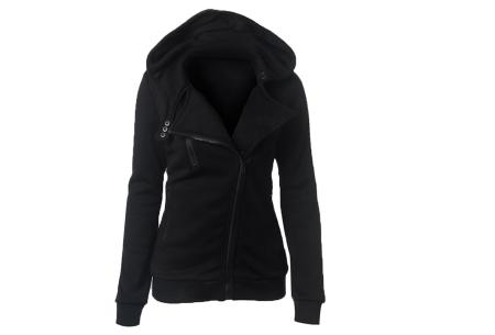 Basic Zipper vest | Sportief kledingstuk met fleece binnenzijde Zwart