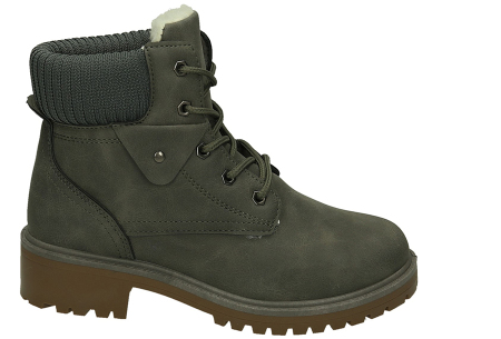Warme veterboots dames in de aanbieding