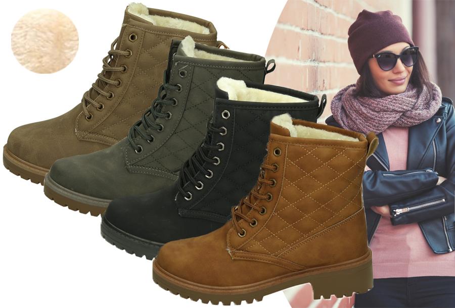 Gevoerde Pattern boots in de sale