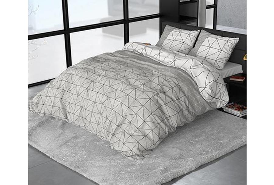 Sleeptime dekbedovertrekken van flanel Maat Gino Grey - 140 x 220 cm