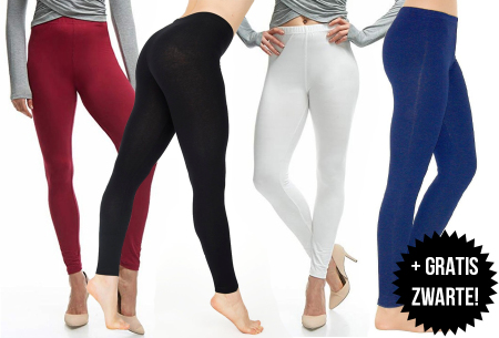 Basic legging   Super stretchy en comfortabel - nu + GRATIS zwarte legging!