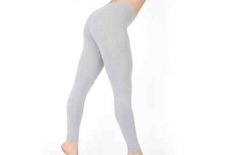 Basic legging   Super stretchy en comfortabel - nu + GRATIS zwarte legging! Lichtgrijs