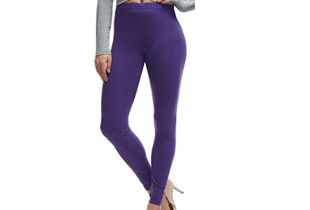 Basic legging   Super stretchy en comfortabel - nu + GRATIS zwarte legging! Paars