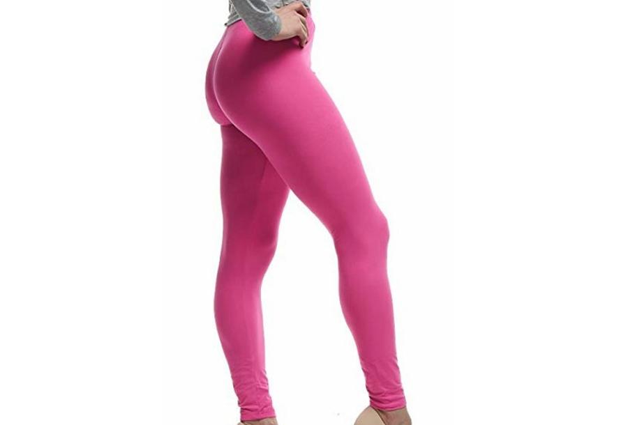 Basic legging Basic legging - maat 2XL - roze + zwart
