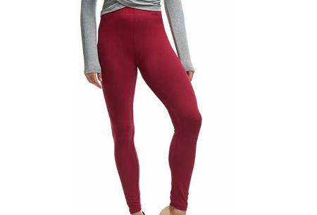Basic legging   Super stretchy en comfortabel - nu + GRATIS zwarte legging! Wijnrood