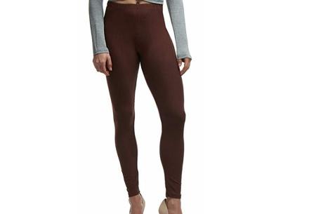 Basic legging   Super stretchy en comfortabel - nu + GRATIS zwarte legging! Bruin