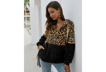 Dames vest met panterprint | Super comfy kledingstuk met gevoerde binnenzijde! Zwart