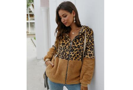 Dames vest met panterprint | Super comfy kledingstuk met gevoerde binnenzijde! Bruin