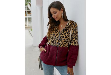 Dames vest met panterprint | Super comfy kledingstuk met gevoerde binnenzijde! Wijnrood