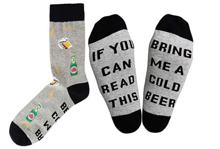 Sokken met tekst | Het leukste cadeau voor een bacon-, bier-, taco- of koffieliefhebber!  Bier