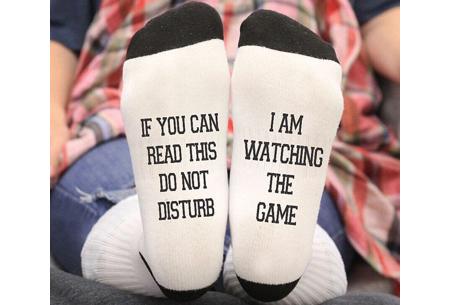'Do not disturb' sokken | Origineel cadeau om te geven of te krijgen! #A